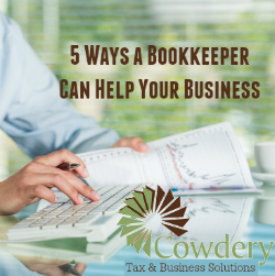How a Bookkeeper Can Help Your Business