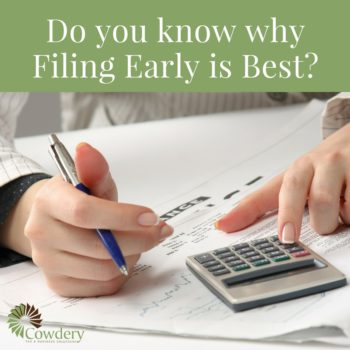 Do you know why Filing Early is Best when Filing Taxes?