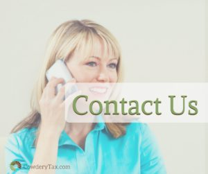 Contact us for Tax Return Services or Bookkeeping Services   CowderyTax.com