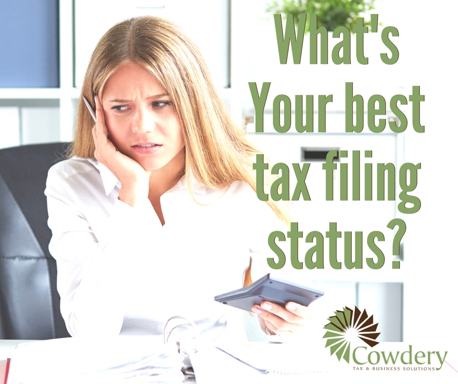 What is Your Best Tax Filing Status? | CowderyTax.com