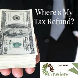 Where's My Tax Refund? | CowderyTax.com