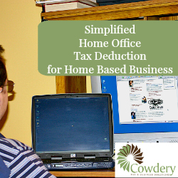 Simplified Home Office Deduction Cowdery Tax