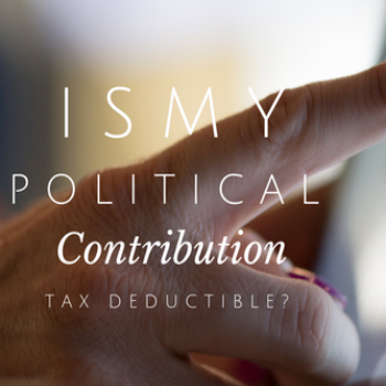 Can you Deduct your 2016 Political Contribution?