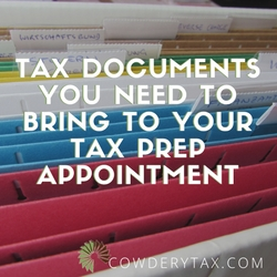 Tax Documents You Need to Bring to Your Tax Prep Appointment