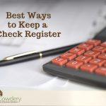 Best Ways to Keep a Check Register | CowderyTax.com